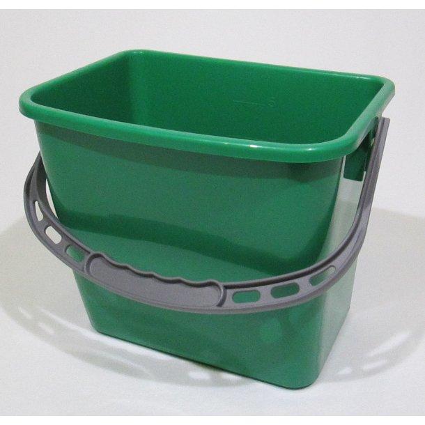 Spand 6 ltr. grøn