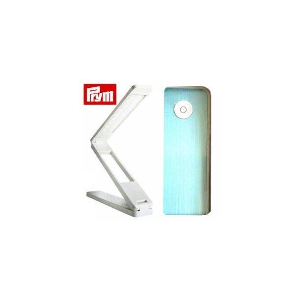 Prym LED foldelampe hvid/sølv